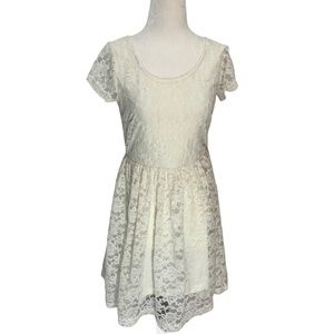 Element🌼White Lace Fit and Flare Dress Size S